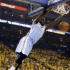 Denver Nuggets\' Ty Lawson dunks against the Golden State Warriors during the first half of Game 4 in a first-round NBA basketball playoff series, Sunday, April 28, 2013, in Oakland, Calif. (AP Photo/Ben Margot)