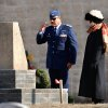 Lt. Col. Raul Gonzalez renders a slow and respectful salute after placing a wreath at the base of a monument near the cemetery entrance. Gonzalez is commander for the Edmond squadron, Civil Air Patrol. Standing with Gonzalez is Cindy Henderson, regent for OKC Chapter of the D.A.R. The graves of Oklahoma veterans buried in the Union Soldiers Cemetery were decorated with evergreen wreaths for the Christmas holidays after a wreath laying ceremony at the cemetery\'s entrance Saturday morning, Dec. 10, 2011. Ladies representing nine different chapters of the Daughters of the American Revolution made the wreaths and laid them at the soldiers\' graves in the cemetery located on the southeast corner of NE 36 and Martin Luther King Blvd. in Oklahoma City. Members of the Edmond Squadron of the Civil Air Patrol also participated in the ceremony, which was attended by about 60 people. Photo by Jim Beckel, The Oklahoman