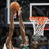 Boston\'s Kendrick Perkins blocks the shot of Oklahoma City\'s Kevin Durant in the second half during the NBA basketball game between the Oklahoma City Thunder and the Boston Celtics at the Ford Center in Oklahoma City, Wednesday, Nov. 5, 2008. Boston won, 96-83. BY NATE BILLINGS, THE OKLAHOMAN ORG XMIT: KOD