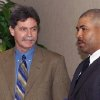 Current Brewers general manager Doug Melvin, left, was the Texas Rangers\' general manager from 1994-2001. Here he talks with former RedHawks manager DeMarlo Hale. Photo by The Oklahoman Archive
