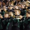 The Edmond Santa Fe band plays in the stands during the high school football game between Edmond Santa Fe and Norman North at Wantland Stadium in Edmond, Okla., Thursday, September 20, 2007. By Nate Billings, The Oklahoman