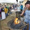 Steven Knisely demonstrates blacksmithing at the 6th annual Choctaw Land Run Festival, April 17, 2009. Photo By David McDaniel, The Oklahoman.