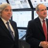 Photo - U.S. Energy Secretary Ernest Moniz, left, and U.S. Sen. Jim Risch, R-Idaho, talk about Idaho's nuclear research efforts at the Idaho National Laboratory in Idaho Falls on Wednesday, August 20, 2014. Moniz spoke at the inaugural Intermountain Energy Summit. Moniz says the United States isn't shunning coal or oil energy sources, but instead, officials are finding ways to reduce their carbon emissions. (AP Photo/Kimberlee Kruesi)
