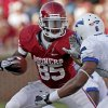OU\'s Ryan Broyles tries to get past Jon Davis of Air Force during the second half of the college football gamebetween the University of Oklahoma Sooners (OU) and Air Force (AF) at the Gaylord Family-Oklahoma Memorial Stadium on Saturday, Sept. 18, 2010, in Norman, Okla. Photo by Bryan Terry, The Oklahoman