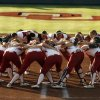 The University of Oklahoma (OU) Sooners prepare to play the Oklahoma State University Cowgirls in NCAA college softball at Marita Hines Field on Wednesday, April 25, 2012, in Norman, Okla. Photo by Steve Sisney, The Oklahoman
