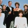 FILE - This 1983 file photo shows actor Larry Hagman, center left, with fellow cast members of the television series