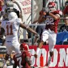 Oklahoma\'s James Hanna (82) catches a touchdown pass in first half of the Red River Rivalry college football game between the University of Oklahoma Sooners (OU) and the University of Texas Longhorns (UT) at the Cotton Bowl on Saturday, Oct. 2, 2010, in Dallas, Texas. Photo by Chris Landsberger, The Oklahoman