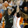 Baylor\'s Brittney Griner (42) goes to the basket beside Oklahoma State\'s Lindsey Keller (25) during a women\'s college basketball game between Oklahoma State University and Baylor at Gallagher-Iba Arena in Stillwater, Okla., Saturday, Feb. 2, 2013. Photo by Bryan Terry, The Oklahoman