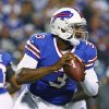 Photo - Buffalo Bills' EJ Manuel (3) looks to pass during the second half of an NFL preseason football game against the Minnesota Vikings on Friday, Aug. 16, 2013, in Orchard Park, N.Y.  (AP Photo/Bill Wippert)