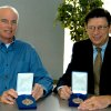 Rose State College Authors Tim Tharp (left) and Carl Sennhenn (right) pose with their medals. They are recipients of the 2006 Oklahoma Center for the Book Awards Community Photo By: Steve Reeves Submitted By: Donna, Choctaw