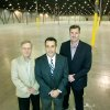 Capital Distributing\'s Chief Financial Officer Steven Oliver, Rick Higginson, V.P. Sales and Marketing, and General Manager Gordon Green pose in Capital Distributing\'s new warehouse at 421 N Portland in Oklahoma City, Okla. Jan. 15, 2008. BY STEVE GOOCH, THE OKLAHOMAN