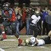 WM #18 Dahu Green breaks into the clear on his way to an 81 yard touchdown run leaving BA #46Justin Perkins behind during the high school football game between Broken Arrow and Westmoore at Moore stadium Friday , November 8, 2013. Photo by Doug Hoke, The Oklahoman