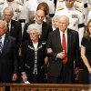 Photo -   From left, astronaut Buzz Aldrin, Annie Glenn, astronaut and former Ohio Sen. John Glenn, and singer Diana Krall, stand during the opening processional at the Washington National Cathedral in Washington, Thursday, Sept. 13, 2012, during a national memorial service for the first man to walk on the moon, Neil Armstrong. (AP Photo/Ann Heisenfelt)