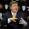 Photo - Colorado head coach Mike MacIntyre talks about his first recruiting class on signing day during an NCAA college football news conference, Wednesday, Feb. 6, 2013, in Boulder, Colo. (AP Photo/The Daily Camera, Cliff Grassmick) NO SALES; MAGS OUT; TV OUT