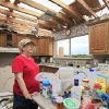 Tornado aftermath cleanup in Guthrie, Wednesday, May 25, 2011. Loretta Rice looks over her roofless kitchen in her home that was hit by Tuesdays tornado. Photo by David McDaniel, The Oklahoman