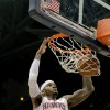 Photo - Atlanta Hawks small forward Josh Smith (5) dunks in the first half of an NBA basketball game against the Charlotte Bobcats, Thursday, Dec. 13, 2012, in Atlanta. (AP Photo/Todd Kirkland)