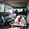Bodies of Afghan civilians, who were killed during an attack by Taliban suicide bombers on a joint U.S.-Afghan air base, are seen in an ambulance, in Jalalabad, east of Kabul, Afghanistan, Sunday, Dec. 2, 2012. Taliban suicide bombers attacked Sunday detonating explosives at the gate and sparking a gunbattle that lasted at least two hours with American helicopters firing down at militants before the attackers were defeated. (AP Photo/Nasrullah Khan)