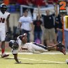Westmoore\'s Kieron Hardrick scores a touchdown against Southmoore during their high school football game in Moore, Okla., Friday, Sept. 13, 2013. Photo by Bryan Terry, The Oklahoman