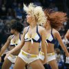 The Thunder Girls dance team performs during a break in the action at the NBA basketball game between the Los Angeles Lakers and the Oklahoma City Thunder at the Ford Center in Oklahoma City, Friday, March 26, 2010. Photo by Nate Billings, The Oklahoman