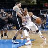 Oklahoma City\'s Russell Westbrook (0) drives against Brooklyn Nets\' Deron Williams (8) during the NBA basketball game between the Oklahoma City Thunder and the Brooklyn Nets at the Chesapeake Energy Arena on Wednesday, Jan. 2, 2013, in Oklahoma City, Okla. Photo by Chris Landsberger, The Oklahoman