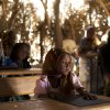 In this Nov. 2, 2012 photo, seven-year-old Achta looks at the blackboard during class in the village of Louri in the Mao region of Chad. In this village where malnutrition has become chronic, children have simply stopped growing. In the county that includes Louri, 51.9 percent of children are stunted, one of the highest rates in the world, according to a survey published by UNICEF - more than half the children in the village. (AP Photo/Rebecca Blackwell) ORG XMIT: NY872