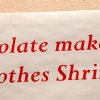 A sign pinned to a wall at the chocolate festival. More than 400 visitors satisfied their collective sweet tooth by sampling confections and treats created and displayed by more than 20 vendors at Yukon\'s Chocolate Festival First Annual Affair Extraordinaire in the Dale Robertson Activity Center on Saturday, Feb. 11, 2012, Photo by Jim Beckel, The Oklahoman