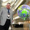 John Snow, dean of the University of Oklahoma college of atmospheric and geophysical sciences, stands in the lobby of the Nationa Weather Center. Snow is involved in a program called