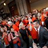 OSU head coach Mike Gundy loads the team bus during the Spirit Walk before the Valero Alamo Bowl college football game between the Oklahoma State University Cowboys and the University of Arizona Wildcats at the Alamodome in San Antonio, Texas, Wednesday, December 29, 2010. Photo by Sarah Phipps, The Oklahoman