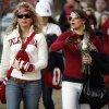 OU fans Nancy Rogers of Austin, Texas, and Micah Sutherland of Tulsa, Okla., are dressed warm for the college football game between the University of Oklahoma Sooners and Texas Tech University at the Gaylord Family -- Oklahoma Memorial Stadium on Saturday, Nov. 22, 2008, in Norman, Okla. BY STEVE SISNEY, THE OKLAHOMAN