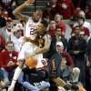Cowboy\'s Le\'Bryan Nash (2) tries to drive around Sooner\'s Amath M\'Baye (22) during the second half as the University of Oklahoma Sooners (OU) defeat the Oklahoma State Cowboys (OSU) 77-68 in NCAA, men\'s college basketball at The Lloyd Noble Center on Saturday, Jan. 12, 2013 in Norman, Okla. Photo by Steve Sisney, The Oklahoman