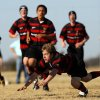 Edmond\'s Ramsey Bush watches his pass in the first half during the Edmond High School Rugby Club match against the Tulsa Brethren at Mitch Field in Edmond, Okla., February 9, 2008. BY MATT STRASEN, THE OKLAHOMAN
