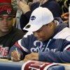 Heritage Hall\'s Markus Wakefield signs to play football at Howard University as teammate Quintaz Struble watches during the National Signing Day ceremony at Heritage Hall in Oklahoma City, Wednesday, Feb. 1, 2012. Photo by Nate Billings, The Oklahoman