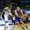 Detroit Pistons\' Tayshaun Prince, right, drives Orlando Magic\'s Glen Davis, left, during the first half of an NBA basketball game, Wednesday, Nov. 21, 2012, in Orlando, Fla. (AP Photo/John Raoux)