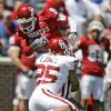 OU\'s Emmanuel Jones brings down Brandon Caleb during Oklahoma\'s Red-White football game at The Gaylord Family - Oklahoma Memorial Stadiumin Norman, Okla., Saturday, April 11, 2009. Photo by Bryan Terry, The Oklahoman