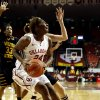 Oklahoma\'s Sharane Campbell shoots from the lane as the University of Oklahoma Sooners (OU) play the Wichita State Shockers in NCAA, women\'s college basketball at The Lloyd Noble Center on Sunday, Nov. 10, 2013 in Norman, Okla. Photo by Steve Sisney, The Oklahoman