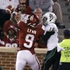 Oklahoma\'s Gabe Lynn (9) breaks up a pass for Baylor\'s Tevin Reese (16) during the college football game between the University of Oklahoma Sooners (OU) and Baylor University Bears (BU) at Gaylord Family - Oklahoma Memorial Stadium on Saturday, Nov. 10, 2012, in Norman, Okla. Photo by Chris Landsberger, The Oklahoman