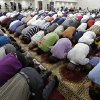 FILE - In this Aug. 10, 2012 file photo, worshipers attend midday prayers at the Islamic Center of Murfreesboro in Murfreesboro, Tenn. The struggle since 2010 between the Islamic Center of Murfreesboro and a group of residents who have fought a losing battle to keep it from being built paints a distorted picture of Muslim life in Tennessee, where several other mosques have opened in recent years with little or no controversy. The opening of the center is one of the top stories in Tennessee for 2012. (AP Photo/Mark Humphrey, File)