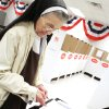 Sister Maria F. Forst votes early at the County Election Board on Monday, February 13, 2012. Photo by David McDaniel, The Oklahoman