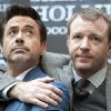 U.S. actor Robert Downey Jr, left, and British director Guy Ritchie present the movie