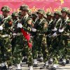In this photo taken on March. 27, 2012, Myanmar soldiers march during a ceremony to mark the country\'s 67th Armed Forces Day in Naypyitaw, Myanmar. Ethnic Kachin rebels in Myanmar say clashes in the country's north are continuing despite a government promise to cease fire. An official with the Kachin Independence Army says government forces stopped attacks Saturday, Jan. 19, 2013 around an army base at Lajayang, just south of the rebel-held town of Laiza. But the official says army assaults are under way elsewhere on least three other rebel positions in the region. (AP Photo/Khin Maung Win)