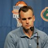 Photo - Former University of Florida men's college basketball coach Billy Donovan pauses to collect himself during a news conference Friday, June 1, 2007, Friday, June 1, 2007, in Gainesville, Fla. Donovan signed a five-year, $27.5 million contract with the NBA's Orlando Magic on Thursday, leaving Florida without a coach for the first time in more than 11 years. (AP Photo/Gainesville Sun, Doug Finger) ** MAGS OUT, ONLINES OUT, NO SALES  INDEPENDENT FLORIDA ALLIGATOR OUT **  ORG XMIT: FLGAI102