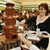 Courtney Wenger of Drum, Texas, partakes of a chocolate fountain at the 27th Annual Chocolate Festival benefiting the Firehouse Art Station in Norman, Okla. on Saturday, Feb. 7, 2009. Photo by Steve Sisney, The Oklahoman