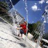 Andy McFarland, 4, plays in a fountain at the Myriad Botanical Gardens in Oklahoma City, Tuesday, May 15, 2012. Photo by Sarah Phipps, The Oklahoman