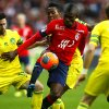 Photo - Lille's Salomon Kalou, center, controls the ball during their French League one soccer match against Nantes at the Lille Metropole stadium, in Villeneuve d'Ascq, northern France, Saturday, March 15, 2014. (AP Photo/Michel Spingler)