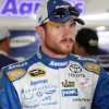 Photo - Brian Vickers rests after the morning practice for Sunday's Sprint Cup Series auto race at New Hampshire Motor Speedway, Saturday, July 12, 2014, in Loudon, NH (AP Photo/Jim Cole)