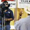 The public tries their hand at broadcasting, during the Hispanic Expo at the Transportation Building at State Fair Park in Oklahoma City, OK, Saturday, July 26, 2008. BY PAUL HELLSTERN, THE OKLAHOMAN
