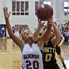 Hammon\'s Lexie Brown (20) battles for the ball with Arnett\'s Jordan Wayland (10) during the Class B Girls State Basketball Championship game between Hammon and Arnett on Thursday, March 1, 2012 in Choctaw, Okla. Photo by Chris Landsberger, The Oklahoman