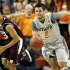 OSU\'s Cezar Guerrero (1) leads a fast break in front of Texas A&M\'s Jordan Green (13) in the first half during a men\'s college basketball game between the Oklahoma State University Cowboys and Texas A&M University Aggies at Gallagher-Iba Arena in Stillwater, Okla., Saturday, Feb. 25, 2012. OSU won, 60-42. Photo by Nate Billings, The Oklahoman