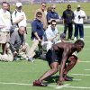Photo - There were conflicting opinions about former OSU receiver Dez Bryant's workout on Tuesday for NFL scouts. AP photo