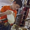 Sheldon Buchanan, of Yukon, gets the chance to bottle feed a calf during the first day of the Canadian County Fair on Thursday, Aug. 26, 2010, in El Reno, Okla. Photo by Chris Landsberger, The Oklahoman